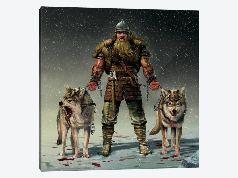 Mountain Viking by Vincent Hie 1-piece Canvas Wall Art