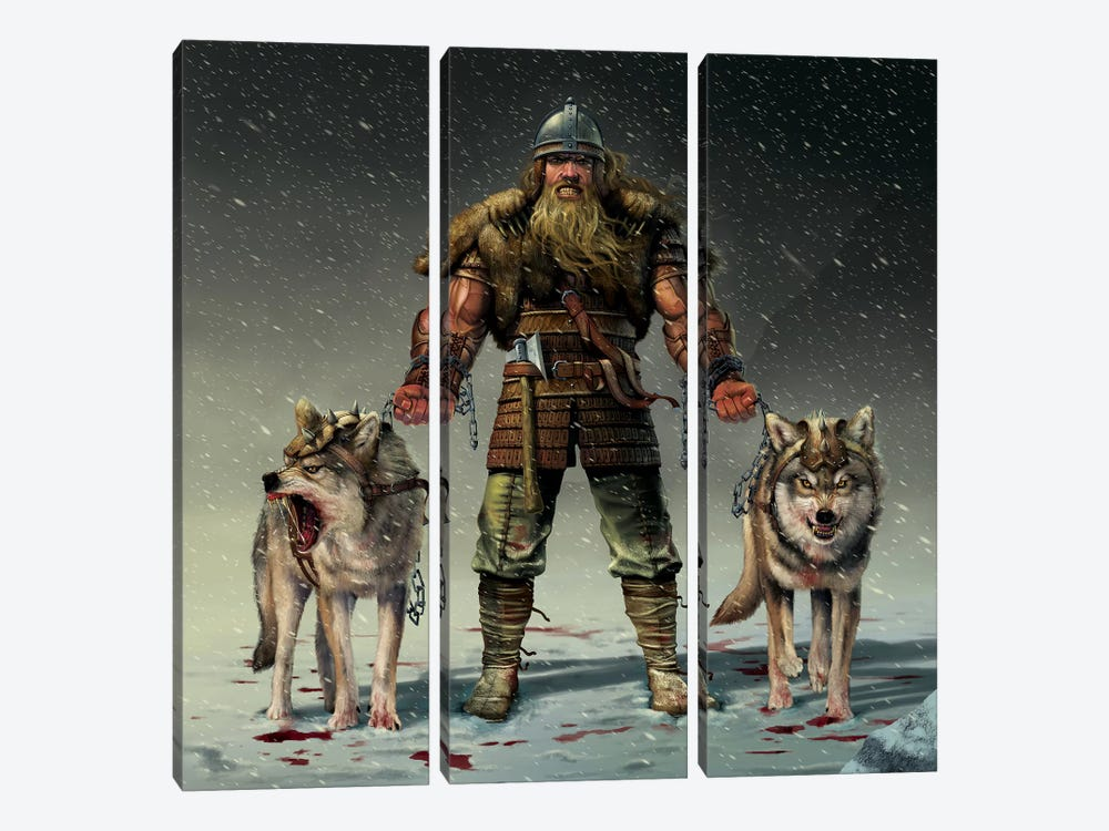Mountain Viking by Vincent Hie 3-piece Canvas Artwork