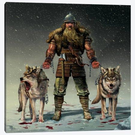 Mountain Viking Canvas Print #HIE32} by Vincent Hie Canvas Artwork