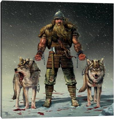 Mountain Viking Canvas Art Print