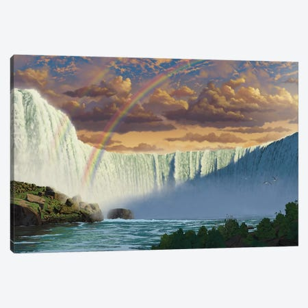 Niagara Falls Canvas Print #HIE33} by Vincent Hie Canvas Wall Art