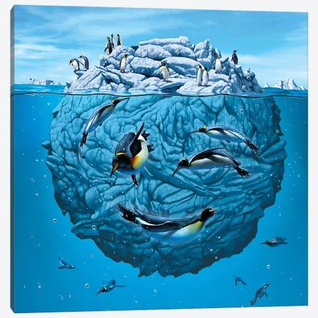 Penguin Wink Canvas Print #HIE36} by Vincent Hie Canvas Art Print