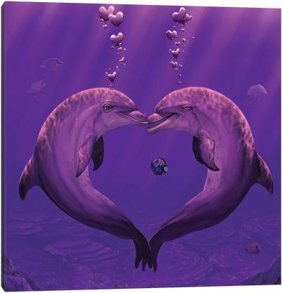 Sea Of Hearts Canvas Art Print