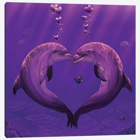 Sea Of Hearts Canvas Print #HIE40} by Vincent Hie Art Print