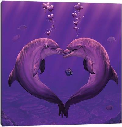 Sea Of Hearts Canvas Art Print