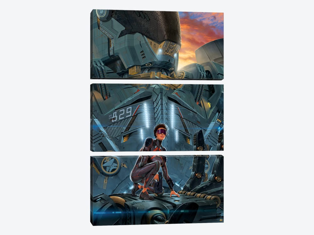 Searchlight by Vincent Hie 3-piece Canvas Wall Art