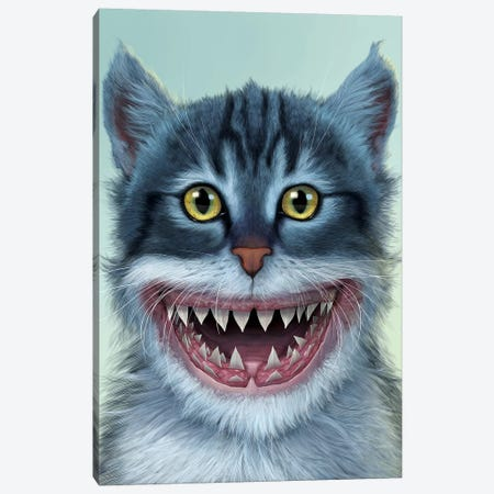 Sharkitten Canvas Print #HIE42} by Vincent Hie Art Print