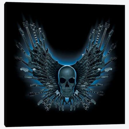 Skull Strings Canvas Print #HIE43} by Vincent Hie Art Print
