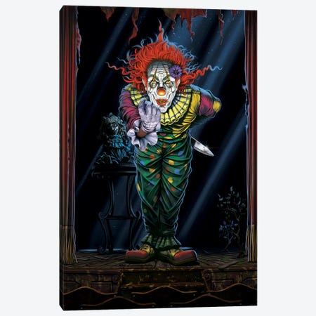 Surprise Clown Canvas Print #HIE46} by Vincent Hie Canvas Wall Art