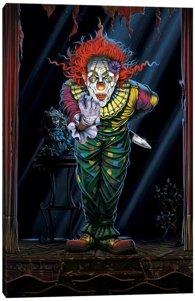 Surprise Clown Canvas Art Print