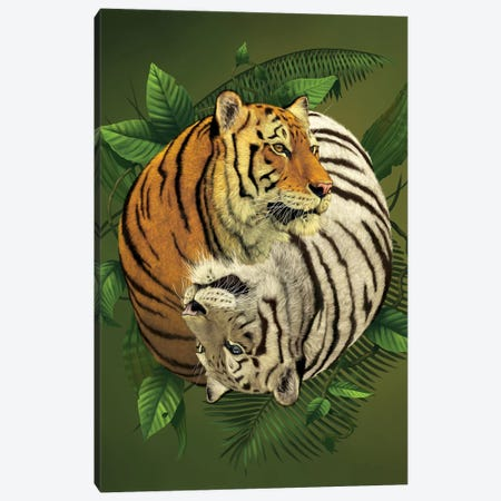 Tiger Yin Yang Canvas Print #HIE49} by Vincent Hie Canvas Print