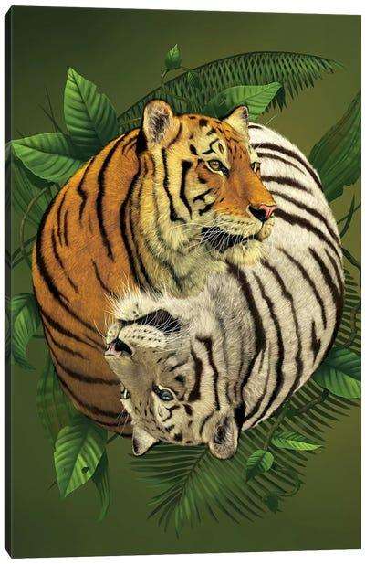 Tiger Yin Yang Canvas Art Print