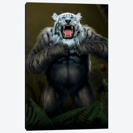 Tigerilla White Tiger Canvas Print #HIE51} by Vincent Hie Canvas Art