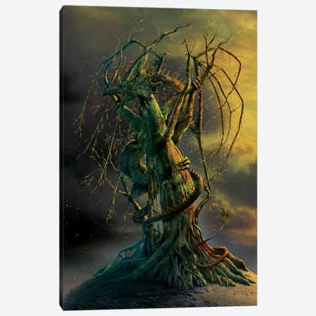 Tree Dragon Canvas Print #HIE54} by Vincent Hie Art Print