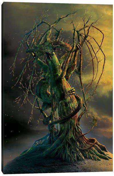 Tree Dragon Canvas Art Print