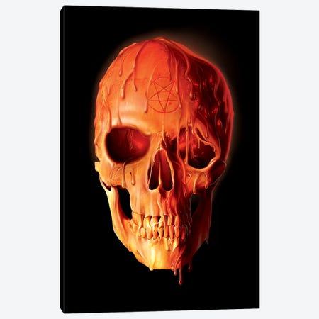 Wax Skull Canvas Print #HIE57} by Vincent Hie Canvas Art Print