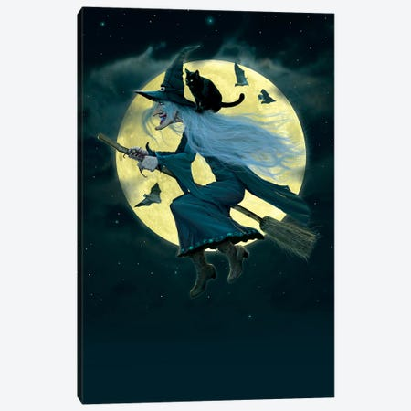 Witch Canvas Print #HIE58} by Vincent Hie Canvas Artwork