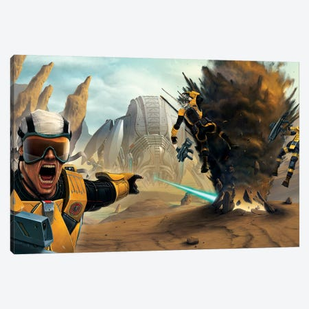 Battlefield Canvas Print #HIE5} by Vincent Hie Art Print