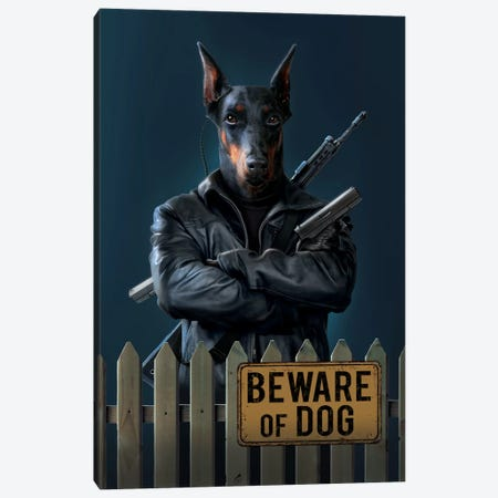 Beware Of Dog Canvas Print #HIE63} by Vincent Hie Canvas Print
