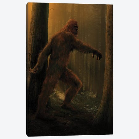 Bigfoot  Canvas Print #HIE64} by Vincent Hie Canvas Wall Art