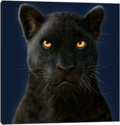 Black Panther Portrait Canvas Art Print
