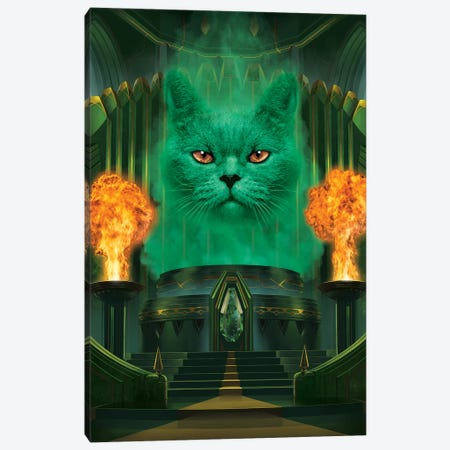 Cat The Great And Powerful  Canvas Print #HIE67} by Vincent Hie Canvas Artwork