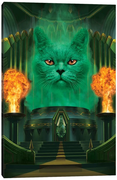 Cat The Great And Powerful  Canvas Art Print