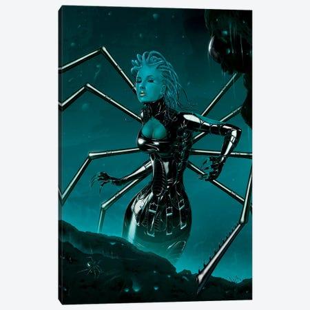 Black Widow Canvas Print #HIE6} by Vincent Hie Canvas Art Print