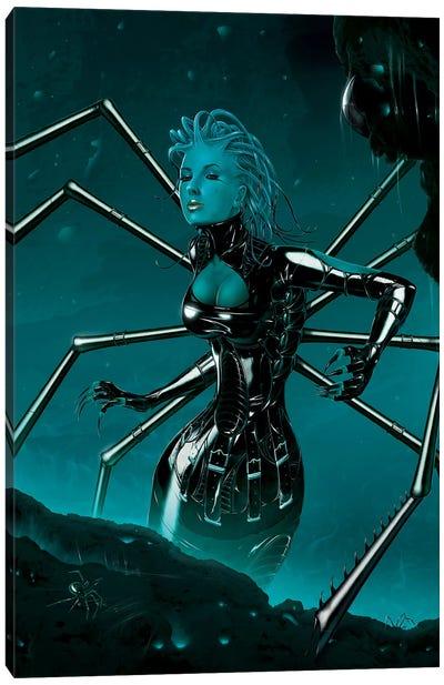 Black Widow Canvas Art Print