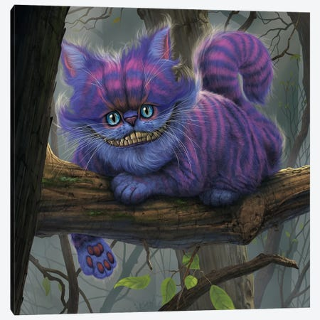 Cheshire Cat Canvas Print #HIE71} by Vincent Hie Canvas Artwork