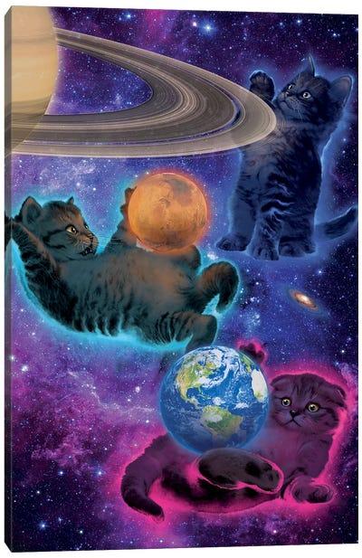 Cosmic Kittens Canvas Art Print