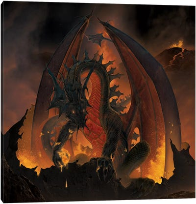 Fireball Dragon Canvas Art Print