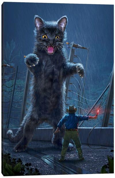 Jurassic Kitty Canvas Art Print
