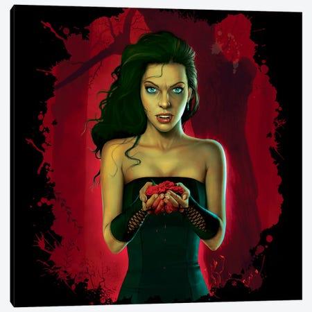 Blood Roses Canvas Print #HIE8} by Vincent Hie Canvas Art