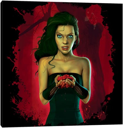 Blood Roses Canvas Art Print
