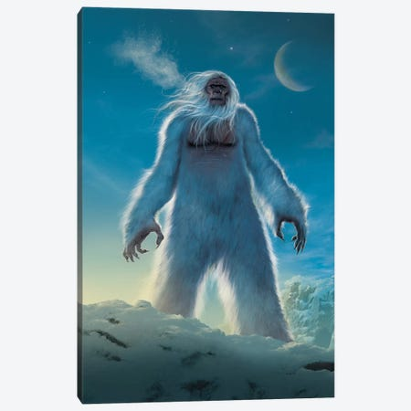 Yeti Canvas Print #HIE92} by Vincent Hie Canvas Artwork