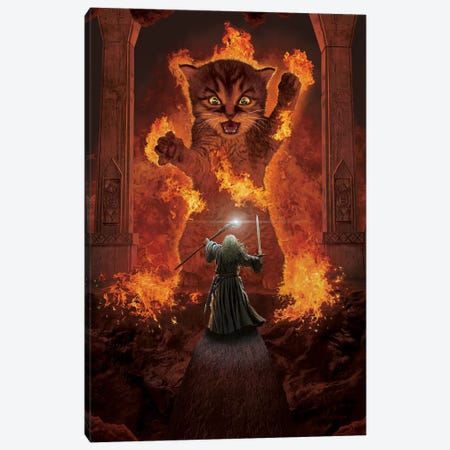 You Shall Not Pass! Canvas Print #HIE93} by Vincent Hie Canvas Art