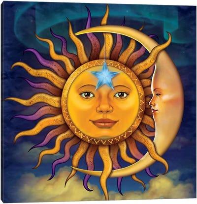 Sun Moon Canvas Art Print