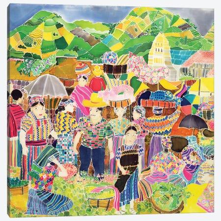 Almolonga Market Canvas Print #HIS1} by Hilary Simon Art Print