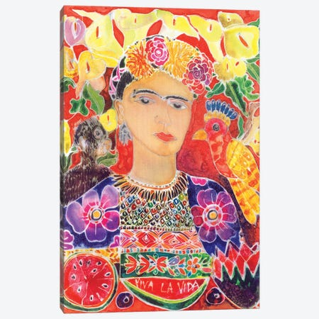 Respects To Frida Kahlo, 2002 Canvas Print #HIS7} by Hilary Simon Canvas Artwork