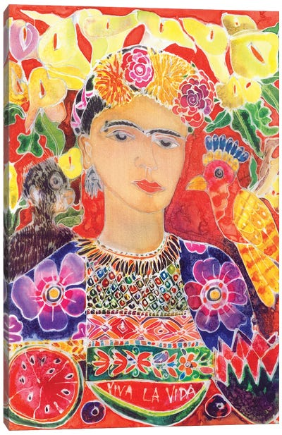 Respects To Frida Kahlo, 2002 Canvas Art Print
