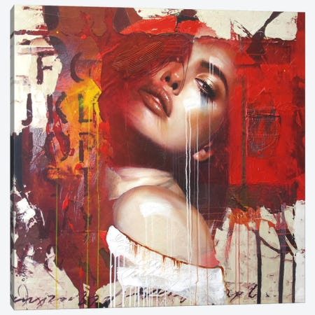 Need To Know Canvas Print #HJB12} by Hans Jochem Bakker Art Print