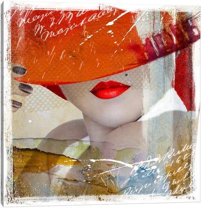 Glamorous V Canvas Art Print