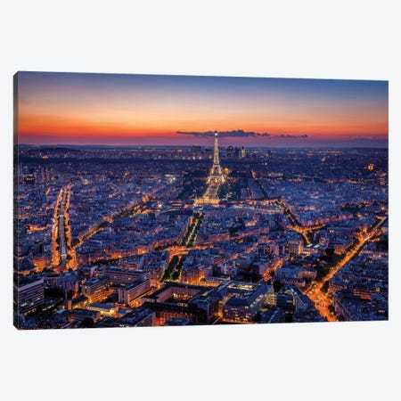 City Lights Canvas Print #HJH1} by H.J. Herrera Canvas Artwork