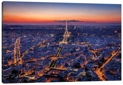 City Lights Canvas Art Print