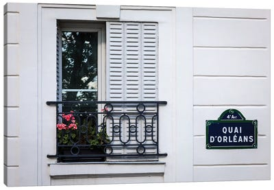 Quai d'Orleans Canvas Art Print
