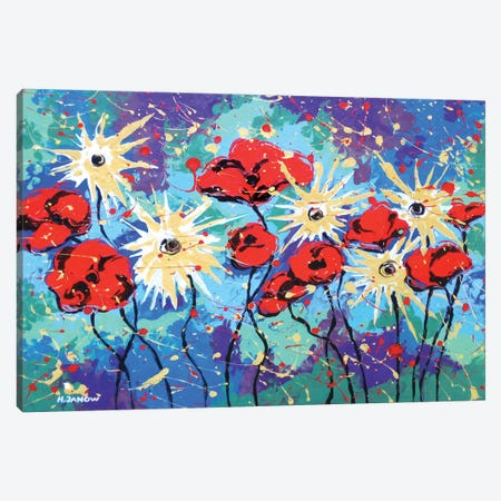 Flower Garden Canvas Print #HJM13} by Helen Janow Miqueo Canvas Artwork