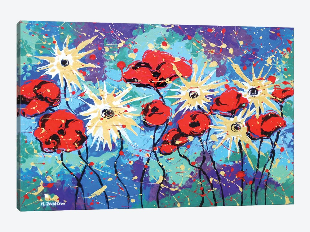 Flower Garden by Helen Janow Miqueo 1-piece Canvas Wall Art