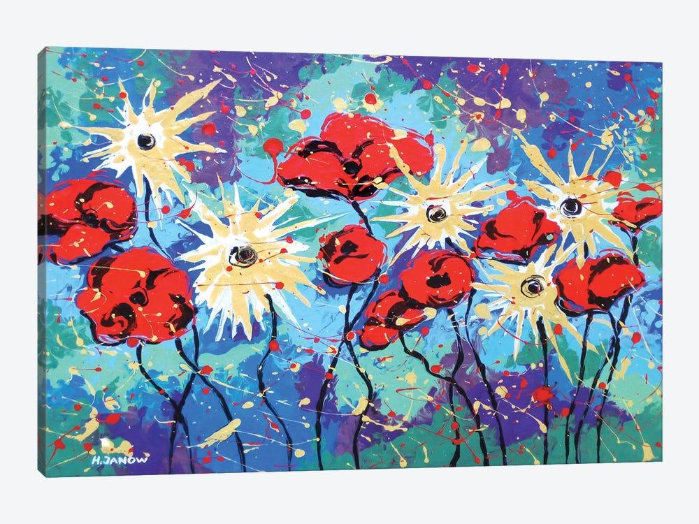Flower Garden by Helen Janow Miqueo 1-piece Canvas Wall Art