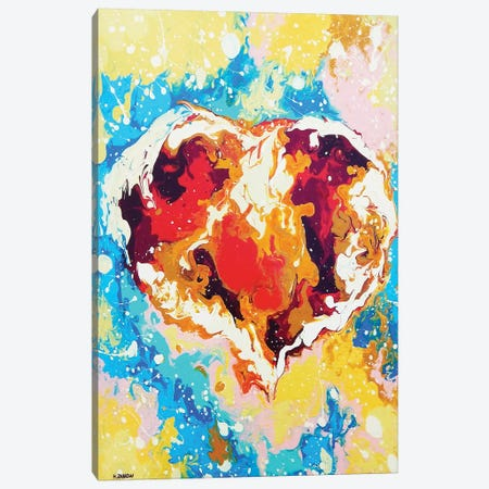 Forever Heart 3-Piece Canvas #HJM16} by Helen Janow Miqueo Canvas Print